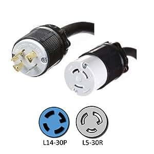 Nema L14 30p To L5 30r Plug Adapter 1 Foot 30a 125v 10 3