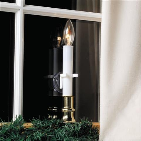 Pack of 4 Christmas Candle Holders Window Clamps