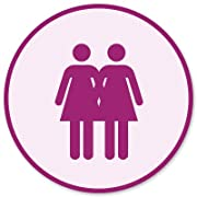 Lesbian Couple Gay Pride Vinyl Sticker - Car Phone Helmet - SELECT SIZE