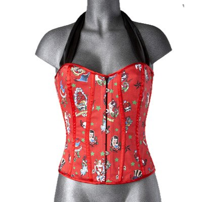 Hell Bunny Korsage ROCKA CORSET red