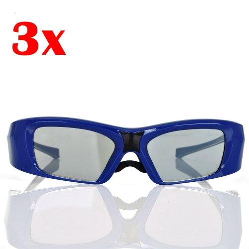 Hi-Shock 3er Pack 3 D TV FullHD Philips 58PFL9955 ** Vizio XVT3D554SV 3D Active Shutter Brille für 3D Version Brillenetui