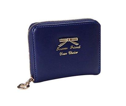 Fashion-Women-Lady-Faux-Leather-Wallet-Purse-Card-Holders-Mini-Handbag-Blue
