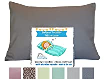 TODDLER PILLOW CASE - GRAY EMBOSSED. Luxury Microfiber Fabric. Fits 13.5 x 19.5 up to 14 x 20 inches. Toddler or Travel Pillowcase. Handmade in the USA. SATISFACTION GUARANTEE. Best Pillowcase.