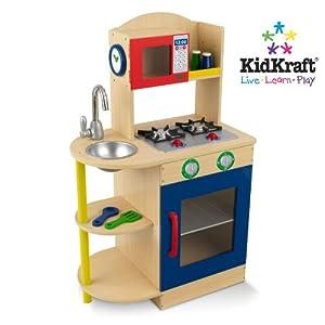 Kidkraft Primary Wooden Kitchen 53194 Activity Playset Multicolour Amazoncouk Toys  Games