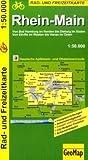 Rhein-Main 1 : 50 000. Radkarte: Von Bad Homburg im Norden bis Dieburg im Süden. Von Taunusstein im Westen bis Hanau im Osten. Hessische Apfelwein- und Obstwiesenroute. Radwege, Sehenswürdigkeiten