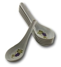 Asian Soup Spoons Bowls - Melamine White Chinese Spoon Pho ...