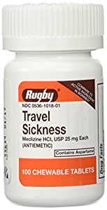 Amazon.com : Rugby Travel Sickness Tablets 100 ea ...