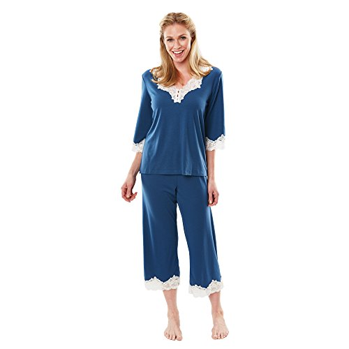 Softies Rachael Bell Sleeve Cooling Capri Pajama Set