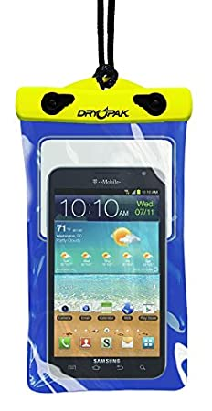 "DRY PAK DP-58 Yellow/Blue 5"" x 8"" Game Player, Smart Phone Case"