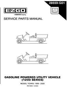 Amazon.com : EZGO 28559G01 1999-2000 Service Parts Manual
