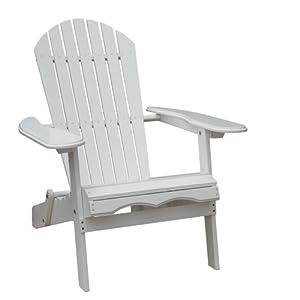 merry garden adirondack chair best sleeper and a half amazon.com : white paint simple folding patio ...