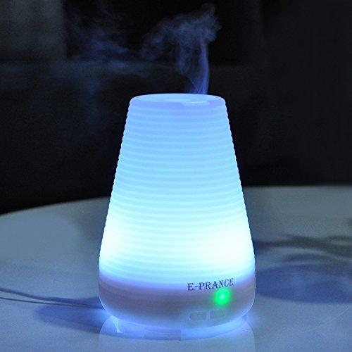 E-PRANCE® アロマディフューザー 超音波式 加湿器アロマポット ライト 多色変換LED付き