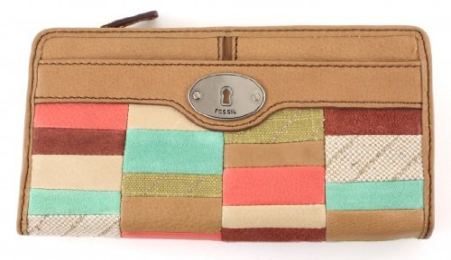 Fossil Maddox Zip Clutch - Bright Patchwork