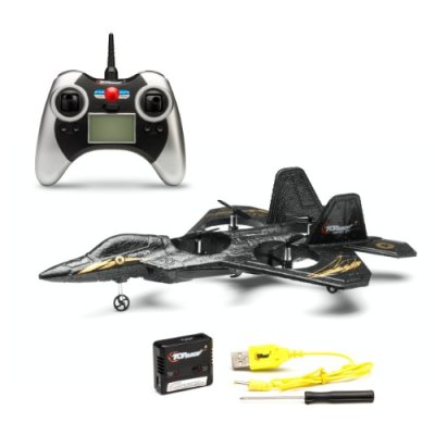 Top-Race-F22-Fighter-Jet-4-Channel-RC-Remote-Control-Quad-Copter-RTF-Black