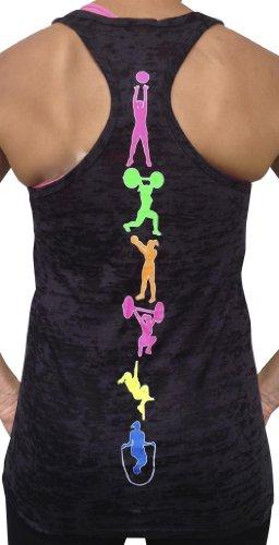 SoRock Women's Fitness Moves Tank Top Medium Black