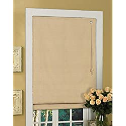 Lewis Hyman 1476323 Thermal Fabric Roman Shade, 23-Inch Wide by 64-Inch Long, Latte