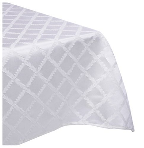 Lenox Laurel Leaf Oval 70 X 86 Tablecloth- White