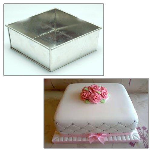 Best Price For Single Square Birthday Wedding Anniversary Cake Tin 4