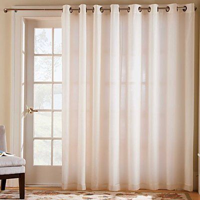 Cheap ThermaVoile Grommet Top Curtain two 54x63 Panels  White  Improvements For sale  White