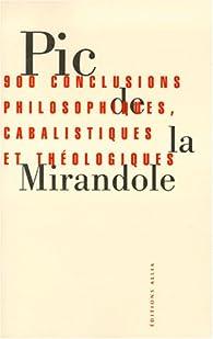 Pic De La Mirandole Citations : mirandole, citations, Conclusions, Philosophiques,, Cabalistiques, Théologiques, Babelio