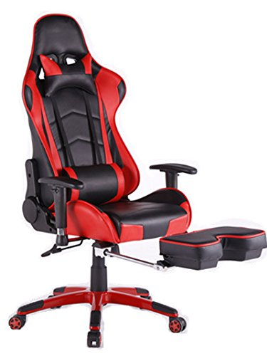 back support for office chairs australia steelcase think chair top gamer ergonomic gaming high swivel computer with footrest adjusting headrest and lumbar racing red black