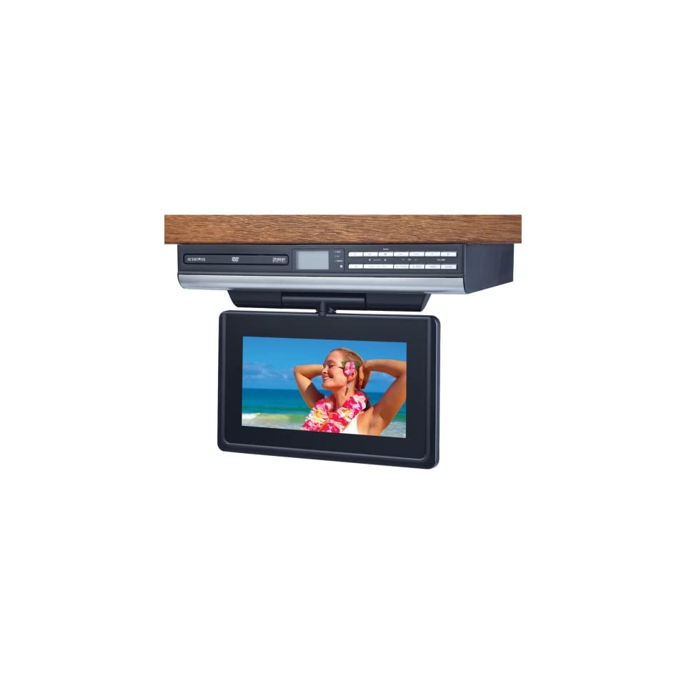 hight resolution of new audiovox ve927 9 lcd drop down tv with built in dvd player clock radio avxve927