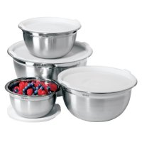 Oggi 7294 Stainless Steel 8-Piece Mixing Bowl Set with ...