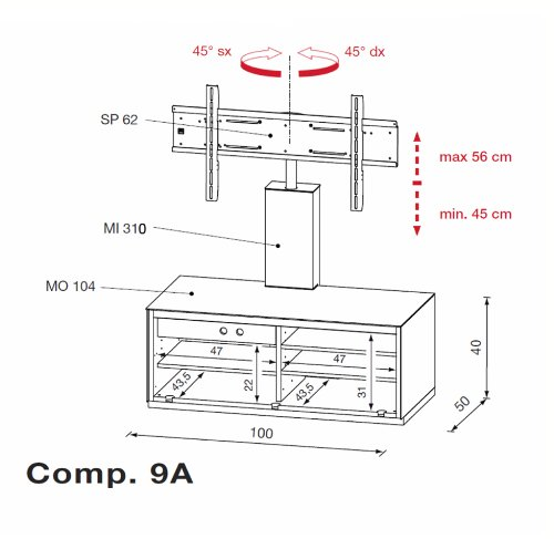LCD TV 42 Inch Review: Triskom Comp 9A Glass TV Stand with