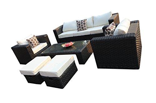maze rattan natural milan corner sofa set green cushions big dog bed cheap yakoe papaver 2 1 228 x 80 70 cm 7 seater garden furniture features