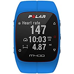 Polar M400 GPS Smart Sports Watch with Heart Rate Monitor (Blue)