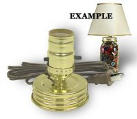 Mason Jar Lamp Kit converts a Standard Mason | Candle ...