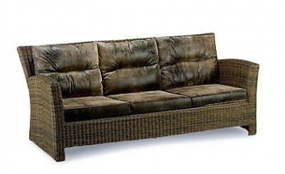 Louisiana-Lounge Gartenmöbel 3-er Couch