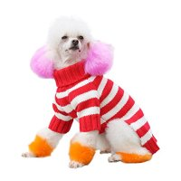 BINGPET Striped Fashion Dog Sweater For Winter  Cat and ...