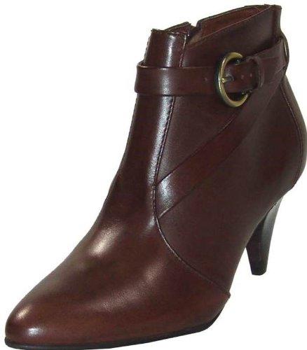 BUFFALO Stiefelette Riemchen Leder brown