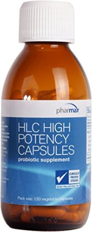 Pharmax - HLC High Potency Vegetable Capsules - Probiotics to Promote Gastrointestinal Health in Adults and Children* - 120 Vegetable Capsules
