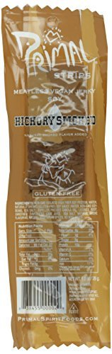 Primal Strips Meatless Vegan Jerky, Hickory Smoked, 1 Ounce (Pack of 24) by Primal Spirit