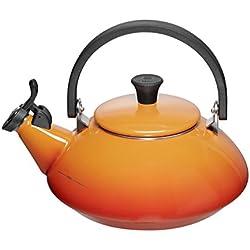 Le Creuset - Pava Tetera Modelo Zen, color Volcánico de Acero Inoxidable