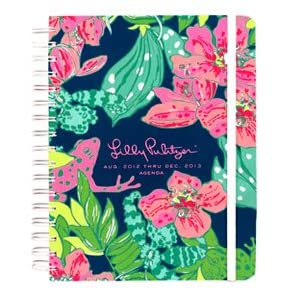 "2012-2013 Lilly Pulitzer ""SKIP ON IT"" Large Agenda / 17 Month Datebook Planner"
