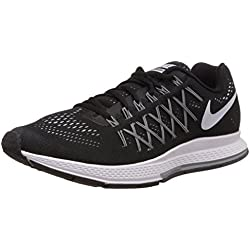 Nike Air Zoom Pegasus 32, Herren Laufschuhe, Schwarz (Schwarz/Dunkles Grau/Reines Platin/Weiß 001), 44.5 EU