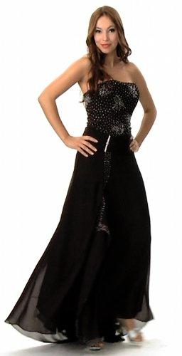 Langes Abendkleid im Empire Stil, Farbe schwarz von Astrapahl, Gr.42