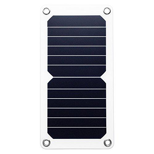 HORUSIS(ホルシス)SH5 USBソーラーチャージャー 最大出力5W(5V/1A)変換効率23.5%Sunpower高性能太陽電池搭載モデル 薄くて軽い超軽量設計 表面防水加工