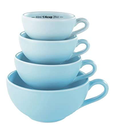 BlissHome Nigella Lawson's Living Kitchen Measuring Cups, Blue, Set of 4