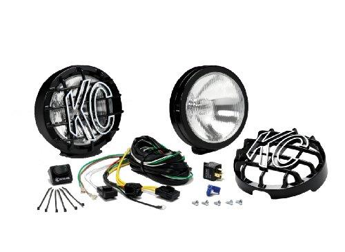 KC HiLiTES 124 SlimLite Black 100-Watt Driving Light