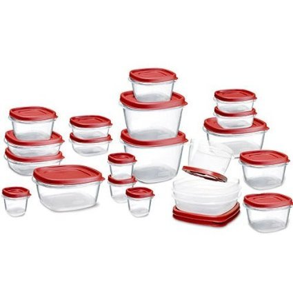 Rubbermaid Easy Find Lid Food Storage Set, Plastic, 42-Piece