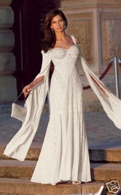 S*C 125 HEINE tolles Abendkleid in cremeweiß Gr. 38