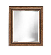 Amazon.com - Decorative Gold & Black Bevelled Wall Mirror ...