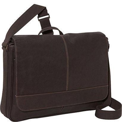 Kenneth-Cole-Reaction-Come-Bag-Soon-Colombian-Leather-Laptop-iPad-Messenger-Brown