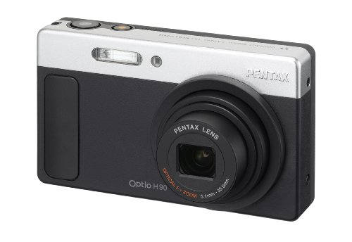 Pentax Optio H90 12.1 MP Digital Camera with 5x Wide Angle Optical Zoom and 2.7-Inch LCD (Matte Black)