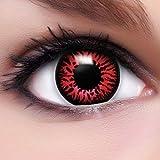 Farbige Kontaktlinsen Crazy Color Fun Contact Lenses 'Dämon' Topqualität inkl. 50 ml Lenscare Kombilösung und Linsenbehälter