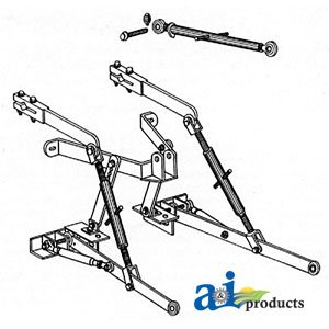 A & I Products 3-pt Hitch Replacement for John Deere Part